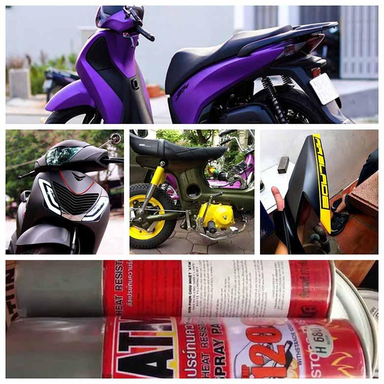 huong dan cach son xe may bang binh xit don gian nhat 2 - Hướng dẫn cách sơn xe máy bằng bình xịt đơn giản nhất