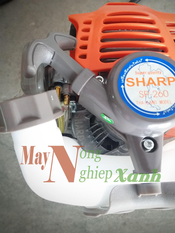 may cat co sharp sp 260 chay xang 2 thi 2 - Máy cắt cỏ SHARP SP-260 Thái Lan 2 Thì Giá Rẻ