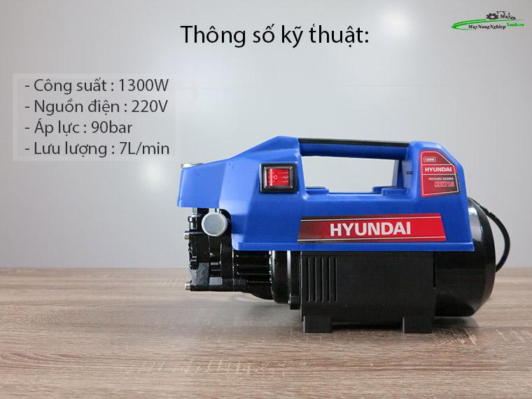 Máy xịt rửa Hyundai HRX713 áp lực 110 Bar Chính Hãng 1 - Máy xịt rửa Hyundai HRX713 áp lực 110 Bar Chính Hãng
