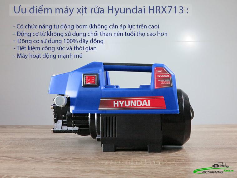 Máy xịt rửa Hyundai HRX713 áp lực 110 Bar Chính Hãng 3 - Máy xịt rửa Hyundai HRX713 áp lực 110 Bar Chính Hãng