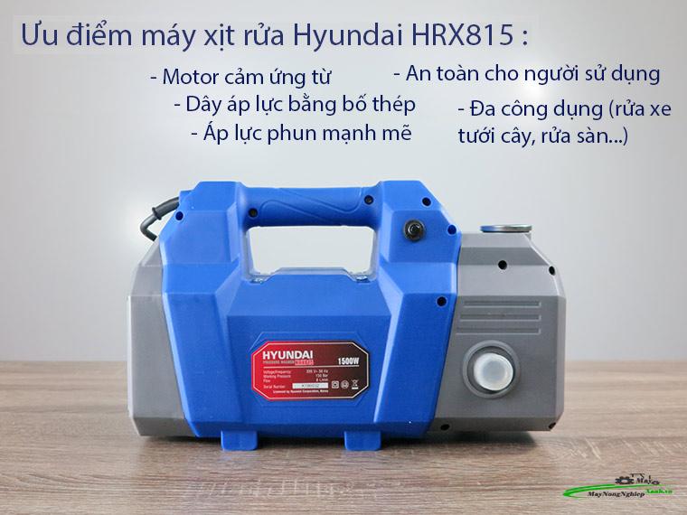 Máy xịt rửa Hyundai HRX815 áp lực 120 Bar Chính Hãng 1 - Máy xịt rửa Hyundai HRX815 áp lực 120 Bar Chính Hãng