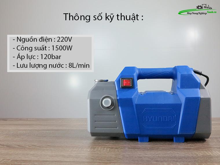 Máy xịt rửa Hyundai HRX815 áp lực 120 Bar Chính Hãng 2 - Máy xịt rửa Hyundai HRX815 áp lực 120 Bar Chính Hãng