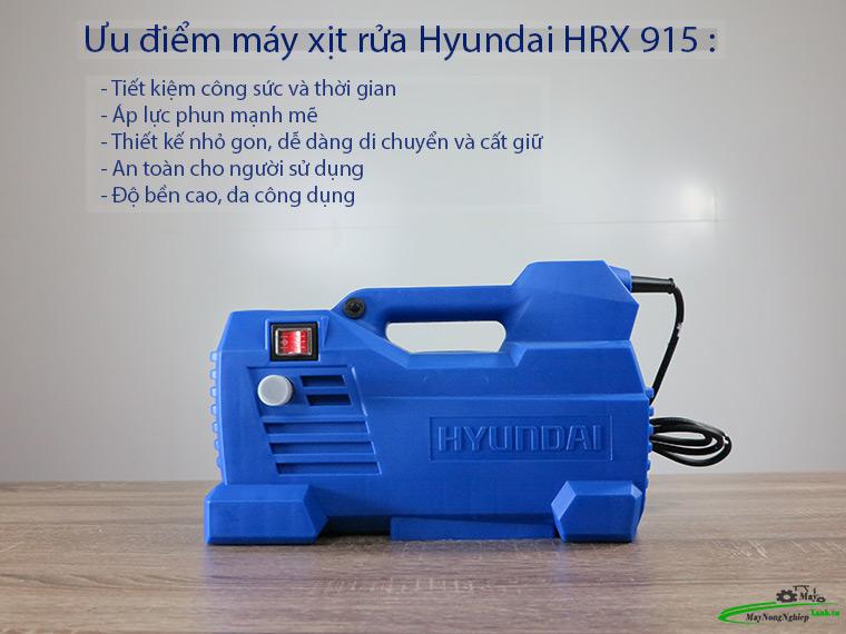 Máy xịt rửa Hyundai HRX915 áp lực Chính Hãng Môtơ từ 1 - Máy xịt rửa xe Hyundai HRX915 áp lực Chính Hãng (Môtơ từ)