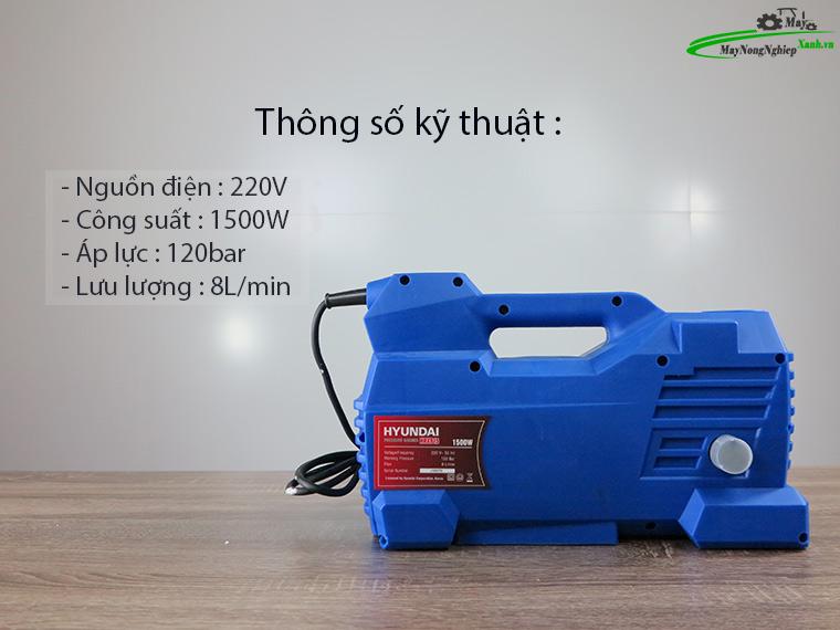 Máy xịt rửa Hyundai HRX915 áp lực Chính Hãng Môtơ từ 2 - Máy xịt rửa xe Hyundai HRX915 áp lực Chính Hãng (Môtơ từ)