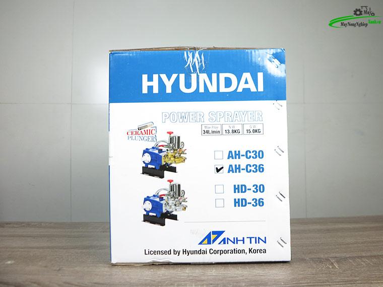dau xit ap luc ty su hyundai ah c36 2hp pitong su 10 - Đầu xịt áp lực Ty sứ Hyundai AH-C36 2HP (Pitông Sứ) chính hãng.