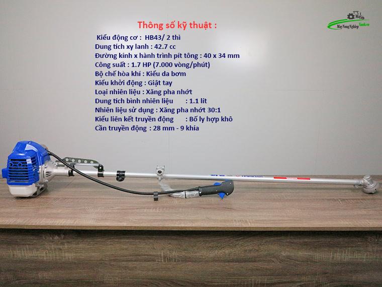 may cat co hyundai 845 nong 40 chinh hang 1 - Máy cắt cỏ Hyundai 845 1.7HP (Nòng 40) chính hãng – Hàng Cao Cấp