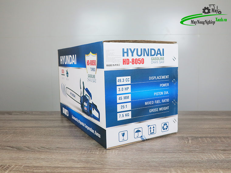 danh gia may cua xich hyundai hd 8050 ban chay 8 - Đánh giá máy cưa xích Hyundai HD-8050 52cc bán chạy của Hãng