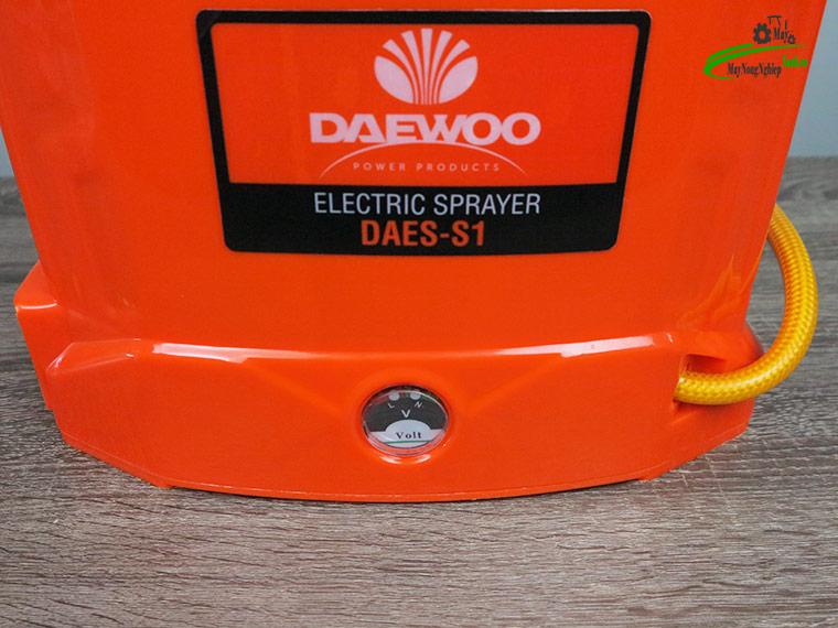 Binh xit dien daewoo 12 lit DAES s1 cam 4 - Bình xịt điện Daewoo 12 lít DAES-S1A Màu Cam 8AH-12V - Chính hãng