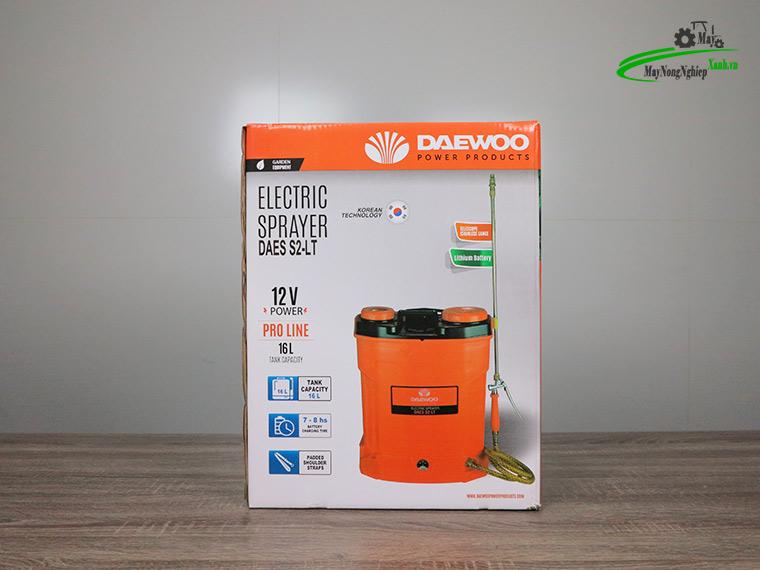 Binh xit dien daewoo 16 lit pin Lithium DAES s2b LT cam 9 - Bình xịt điện Daewoo 16 lít DAES-S2A-LT Pin Lithium 8AH-12V Màu Cam
