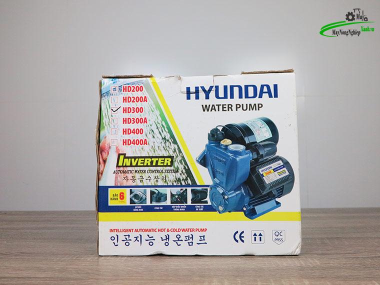 May bom nuoc tang ap Hyundai hd300 300W 7 - Máy bơm nước tăng áp Hyundai HD300 300W/ 0.4 HP