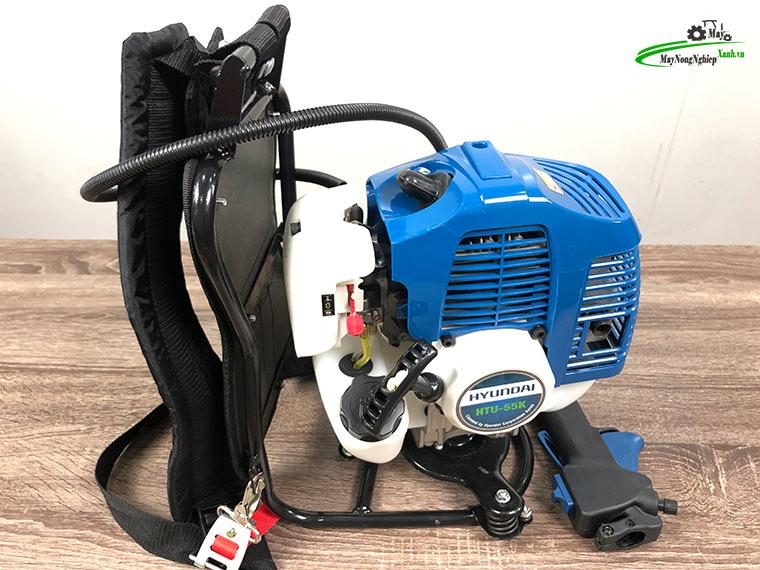 may cat co deo lung hyundai htu 55k nong 44 chinh hang 1 - Máy cắt cỏ đeo lưng Hyundai HTU-55K Nòng 44 2HP Chính hãng