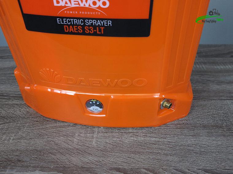 Binh xit dien daewoo 20 lit pin Lithium DAES s3a LT cam 5 - Bình xịt điện Daewoo 20 lít DAES-S3A-LT Pin Lithium 8AH-12V Màu Cam