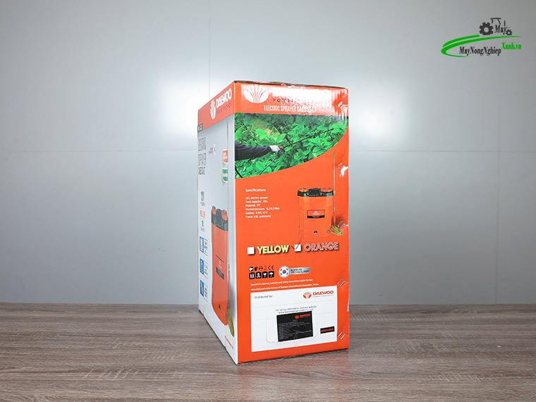 Binh xit dien daewoo 20 lit pin Lithium DAES s3a LT cam 8 - Bình xịt điện Daewoo 20 lít DAES-S3A-LT Pin Lithium 8AH-12V Màu Cam