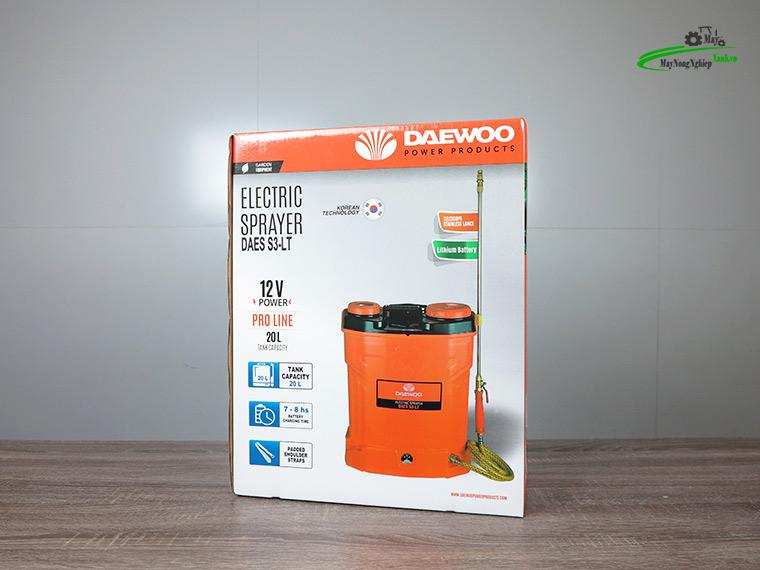 Binh xit dien daewoo 20 lit pin Lithium DAES s3a LT cam 9 - Bình xịt điện Daewoo 20 lít DAES-S3A-LT Pin Lithium 8AH-12V Màu Cam
