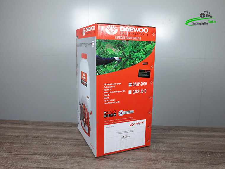 Binh xit may phun thuoc sau Daewoo DAKP 2020 binh xang duoi 9 - Máy phun thuốc sâu Daewoo DAKP 2020 2 Thì Chính Hãng