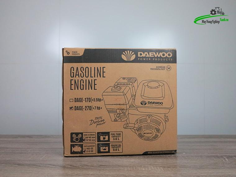 Dong co xang may no 7hp daewoo dage 270 tua nhanh 13 - Động cơ xăng máy nổ 7HP Daewoo DAGE-270 Tua Nhanh Chính Hãng