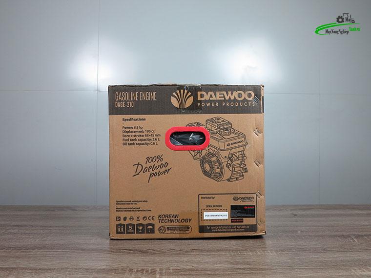 Dong co xang may no 6.5hp daewoo dage 220 tua nhanh 12 - Động cơ xăng máy nổ 6.5HP Daewoo DAGE-210 Tua Nhanh Chính Hãng