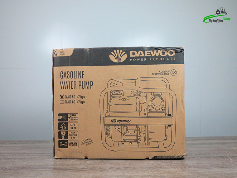 may bom nuoc dau no xang Daewoo dawp 5.5hp 12 - Máy bơm nước đầu nổ xăng Daewoo DAWP 50 5.5HP Ống 50mm Chính Hãng
