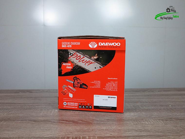 may cua xich 40cc Daewoo 1.6kw chinh hang 8 - Máy cưa xích 40cc Daewoo Dacs 4019 1.6Kw đủ lam xích chính hãng