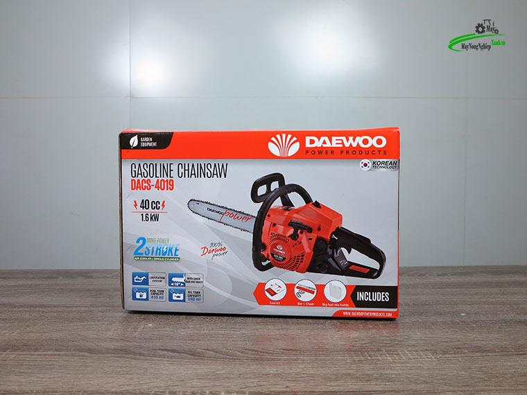 may cua xich 40cc Daewoo 1.6kw chinh hang 9 - Máy cưa xích 40cc Daewoo Dacs 4019 1.6Kw đủ lam xích chính hãng