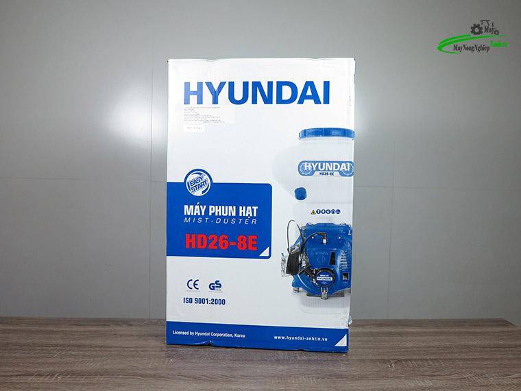 may sa lua may rai phan phun voi hyundai hd26 8e phun hat 9 - Máy sạ lúa – Máy rải phân phun vôi Hyundai HD26-8E phun hạt cao cấp.