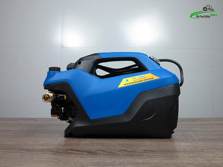 may xit rua xe mini Omais ql980t chinh ap mau xanh 1 - Máy xịt rửa xe mini OMAIS QL 980T Chỉnh áp màu Xanh