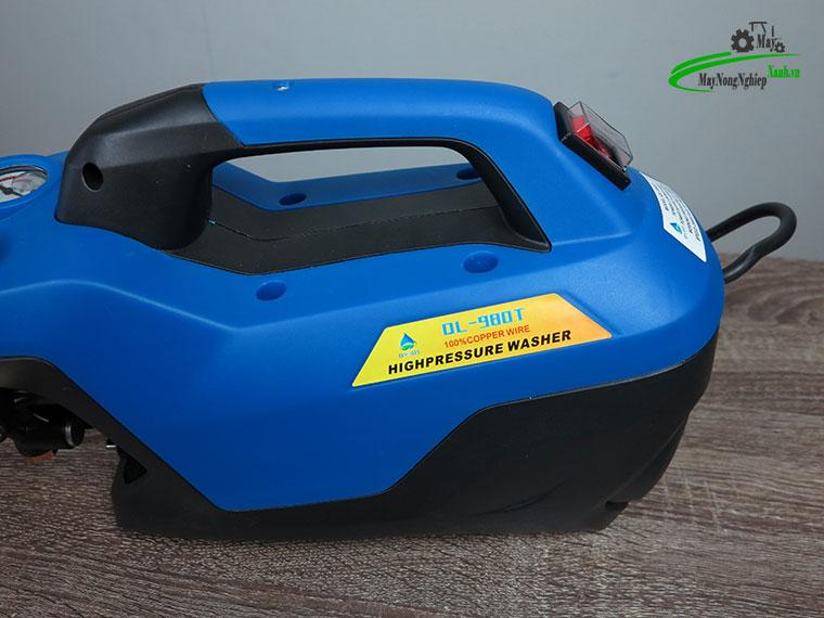 may xit rua xe mini Omais ql980t chinh ap mau xanh 7 - Máy xịt rửa xe mini OMAIS QL 980T Chỉnh áp màu Xanh