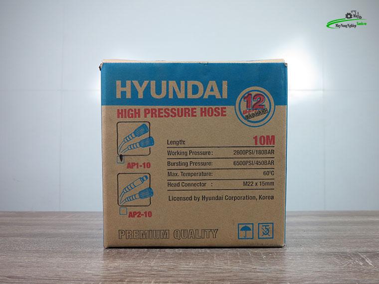 day phun ap luc hyundai ap1 10m 3 - Dây rửa xe cao áp 10m Hyundai AP1-10 hàng theo máy
