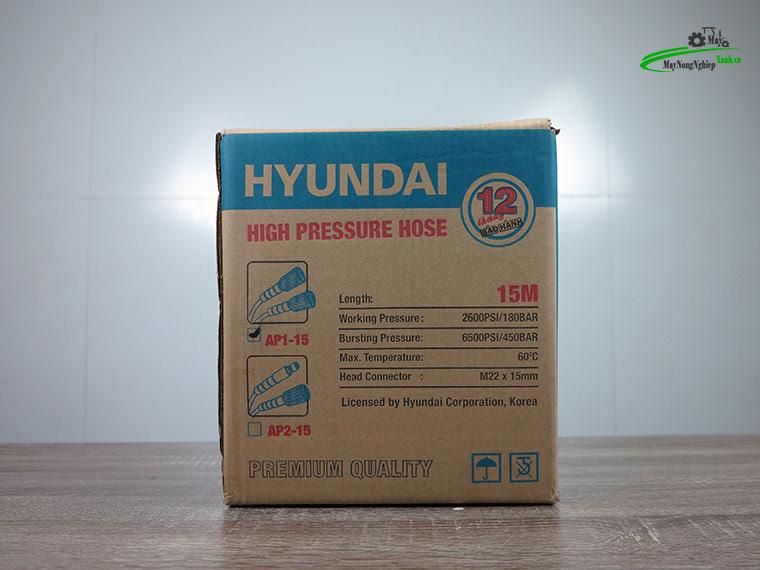 day phun ap luc hyundai ap1 15m 4 - Dây rửa xe cao áp 15m Hyundai AP1-15 hàng theo máy