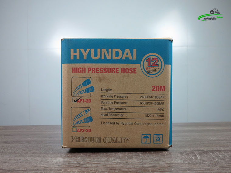 day phun ap luc hyundai ap1 20m 3 - Dây rửa xe cao áp 20m Hyundai AP1-20 hàng theo máy
