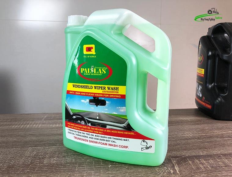 nuoc lau kinh da nangpallas 4.5Ll 2 - Nước rửa kính ô tô Pallas 4.5 lít Bình Tiết Kiệm