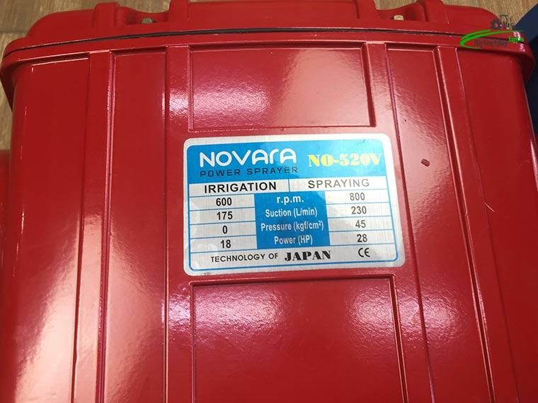 dau xit ap luc novara no 520v 18hp bom nuoc 8 - Đầu xịt áp lực 18HP Novara No-520V bơm nước được