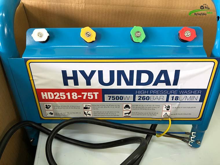 may rua xe cong nghiep Hyundai Hd2518 75T 260 bar 2 - Máy rửa xe công nghiệp Hyundai HD2518-75T Áp Lực 260 Bar