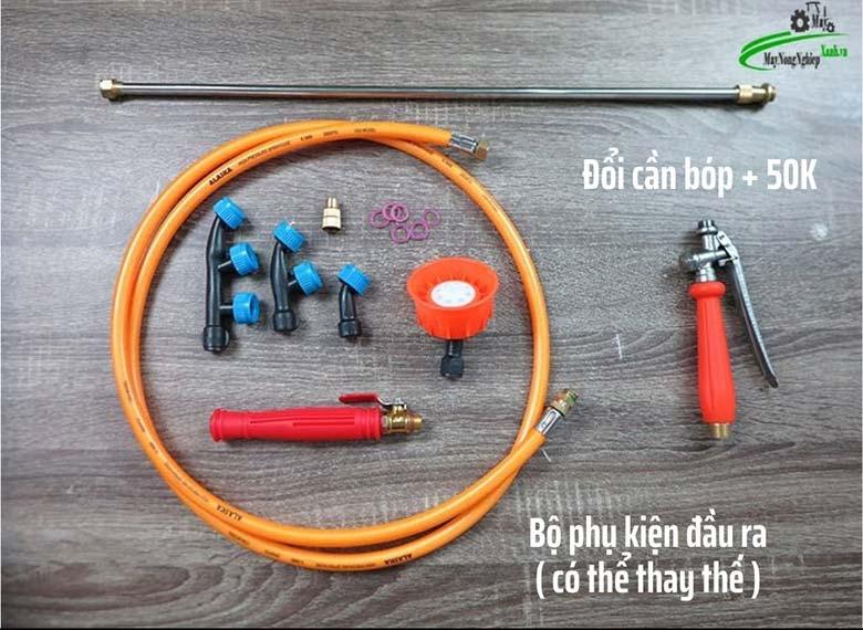 Phu kien dau ra may phun thuoc cam tay chay dien motokawa mk 65 65B - Máy phun thuốc cầm tay chạy điện (có Ắc Quy) Motokawa MK-65B