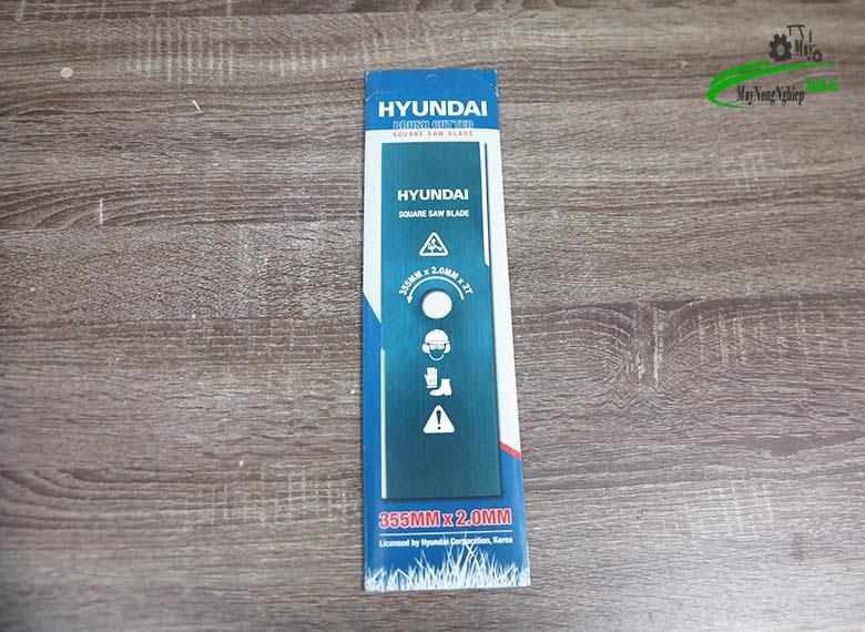 luoi cat co vuong hyundai 3.5 tac day 2 mm - Lưỡi cắt cỏ vuông 355mmx2mmx2T Hyundai (dài 3.5 tấc dày 2 ly )
